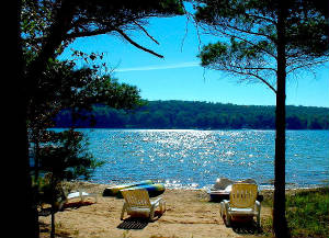 Romantic Michigan Private Beach Vacation Rental